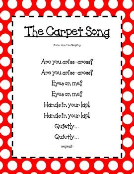 carpet song poster  laughing  learning