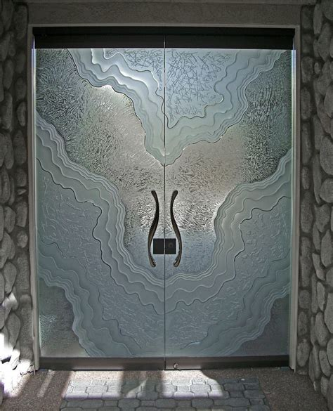 How To Make Pantry Doors by Frameless Glass Doors Etched Carved Glass Metamorphosis