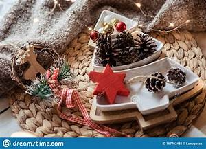 Christmas, New, Year, Rustic, Decorations, Christmas, Tree, Shaped, Plate, With, Pines, And, Red, Balls