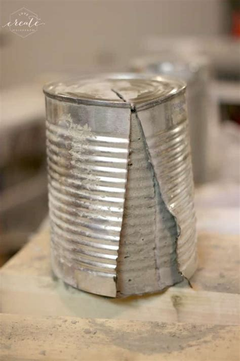 diy concrete vases  tin cans love create celebrate