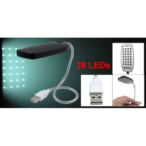 usb reading light with flexible neck 16 3 quot flexible neck usb plug 28 leds black reading light
