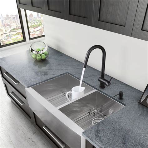 kitchen sink with cutting board 33 farmhouse stainless steel 16 bowl 8569