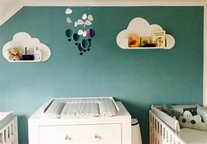 Mobile über Wickeltisch : w lkchenliebe im babyzimmer diy kissen n hen und mobile basteln ~ Orissabook.com Haus und Dekorationen