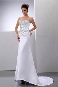 Robe De Mariée Moderne : robe de mari e moderne fourreau tra ne balay e satin ~ Melissatoandfro.com Idées de Décoration