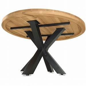 Tisch Rund 120 Cm : esstisch star 120 cm rund in eiche massiv metall ~ Indierocktalk.com Haus und Dekorationen