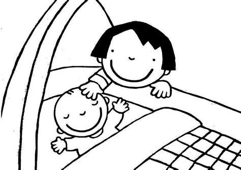 Kleurplaat Jarig Grote Broer by Kleurplaat Op Babybezoek Thema Een Baby Baby