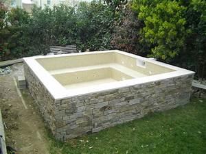 Fabriquer Un Jacuzzi : construire spa beton tendeur castorama closdestreilles ~ Melissatoandfro.com Idées de Décoration