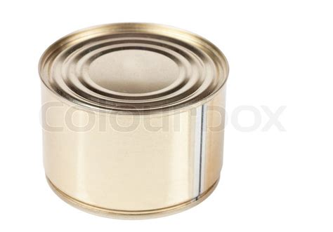 studio shot of tin can isolated on the white background stock photo colourbox