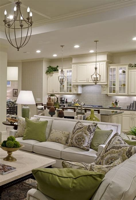 Living Room And Kitchen Room by Sanibel Model Living Room Kitchen Living Room Layout