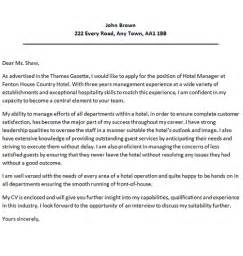 cover letter for hotel manager cover letters and cv exles
