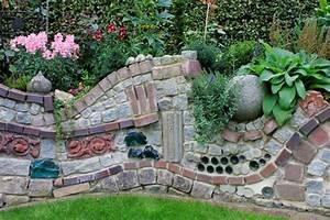 Gartenmauern Aus Stein : steinmauer als blickfang und sichtschutz im garten 40 ideen ~ Lizthompson.info Haus und Dekorationen