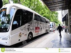Calcio Professionistico Team Bus Di Real Madrid Immagine
