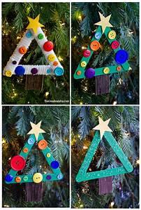 Diy, Kids, Craft, Stick, Christmas, Tree, Ornament, -, Tgif