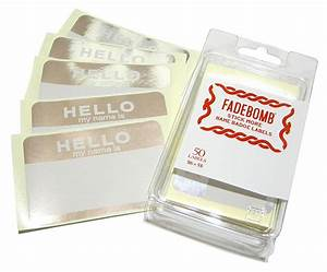 fadebomb rakuten global market fadebomb metallic hello With kitchen cabinets lowes with name badge stickers