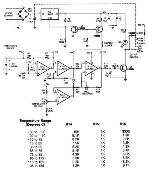 Temperature Sensor Circuit Diagram Electronic
