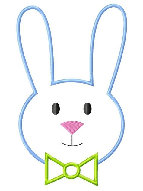 easter bunny face clipart eyes clipground