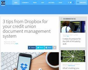 dropbox 3 tips from dropbox for your credit union With dropbox document management system