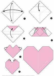 Origami Heart Instructions From Origami  Paper Folding
