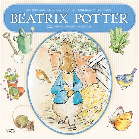 beatrix potter monthly square wall calendar children