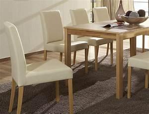 Esstisch Stühle Beige : tischgruppe kernbuche tisch emilian 125 165 x80 8 st hle ivett beige wohnbereiche esszimmer ~ Markanthonyermac.com Haus und Dekorationen