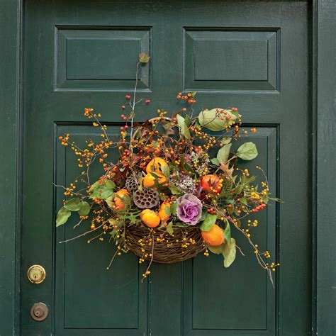 fall door wreaths to make fall door wreaths southern lady magazine