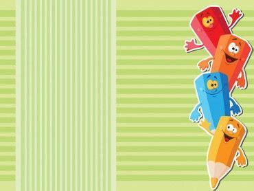 school pencils  children powerpoint design backgrounds