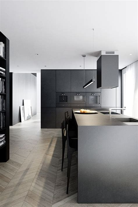 black and white contemporary kitchen tendencia en decoraci 243 n de cocinas 2018 elegantes y 7843