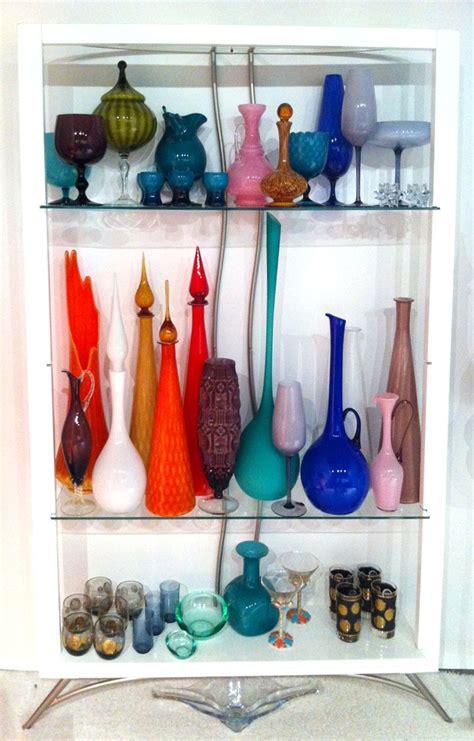 mid century modern glass vase art glass stretch vase