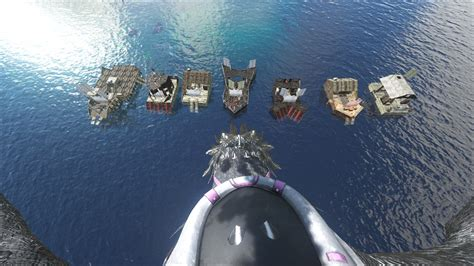 Ark Motorboat Id by Steam Community Screenshot Modular Raft Base 4 The