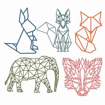 Animal Geometric Svg Silhouette Designs Dxf Origami