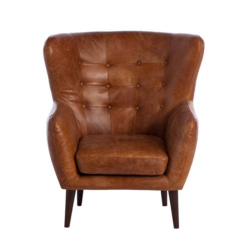 Tobin Outback Leather Chair, Tan  Chairs  Living Room