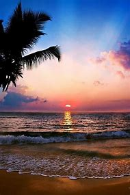 Beautiful Tropical Beaches Sunset