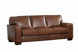 Kimberlly Full Top Grain Brown Leather Sofa