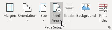 print area  excel easy excel tutorial