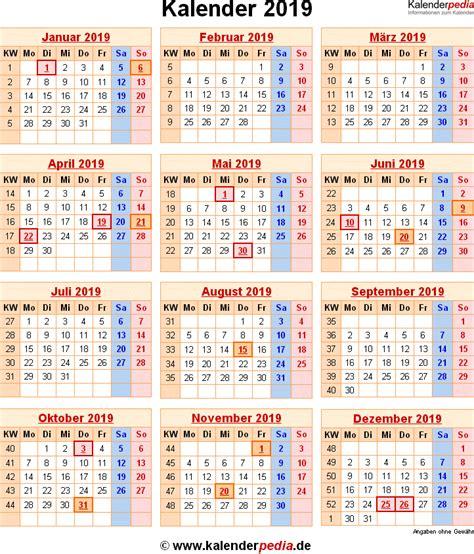 kalender mit excelpdfword vorlagen feiertagen