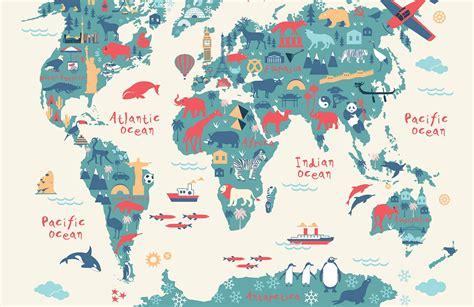 kids world map wallpaper mural muralswallpaper