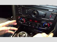 Audi A4S4 B8 Dual Climate Control Unit Trim Removal with