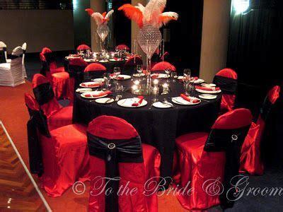 red black silver table setting wedding stuff