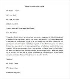 termination letter for lease agreement sample With termination of rental agreement letter template