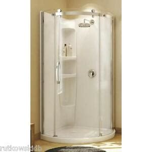 Maax Shower Stalls Installation - maax olympia white acrylic corner shower kit 36 quot w x