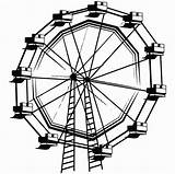 Ferris Wheel Coloring Clipart Drawing Drawings Pages Printable Line Clipartpanda Vector Clip Sketch Getcolorings Illustration sketch template