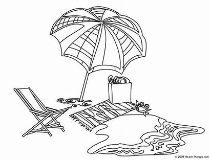Beach Towel Coloring Pages Hard Getcoloringpages Printable
