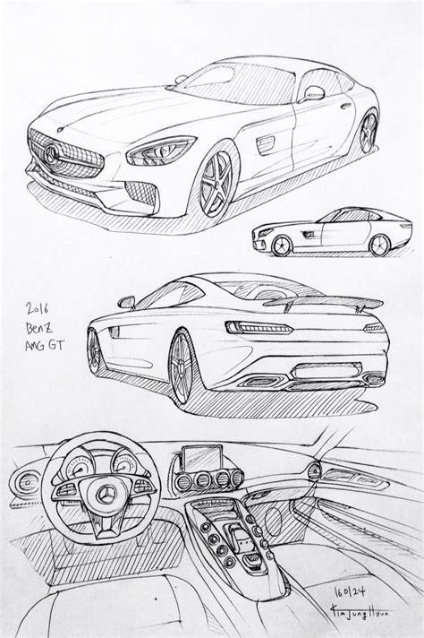 car drawing   benz amg gt prisma  paper kim