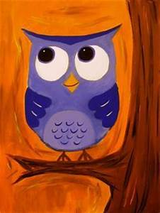 easy to paint owl acrylic - Google Search   Fall canvas ...