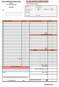 Auto Amortization Top 21 Free Cleaning Service Invoice Templates Invoice
