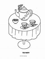 Tea Party Coloring Pages Boston Drawing Bag Template Print Sketch Getdrawings Coloring2print sketch template