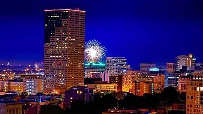 Portland Oregon Night Wallpapers Fireworks Gay Cityscape