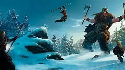Viking Warrior Vikings Fantasy Warriors Battle Wallpapersafari