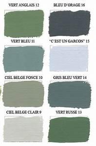 Peinture Vert De Gris : joli nuancier vert de gris colors pinterest colores ~ Melissatoandfro.com Idées de Décoration