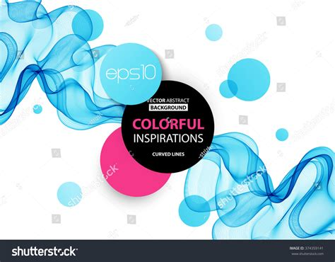 Abstract Blue Wavy Lines Colorful Vector Stock Vector